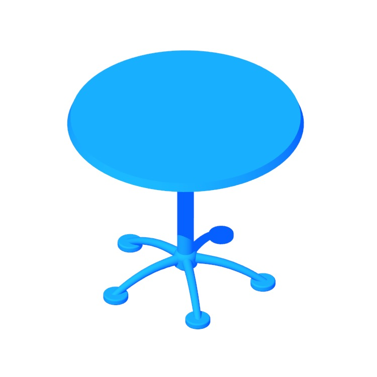 View of the Pensi Table (Round) in 3D available for download