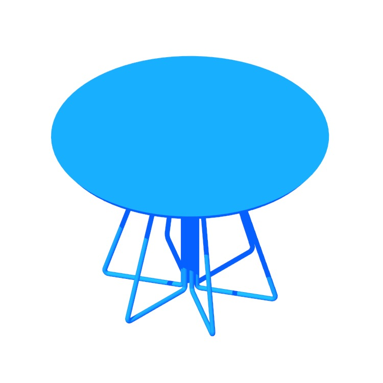 View of the Paperclip Table (Round) in 3D available for download