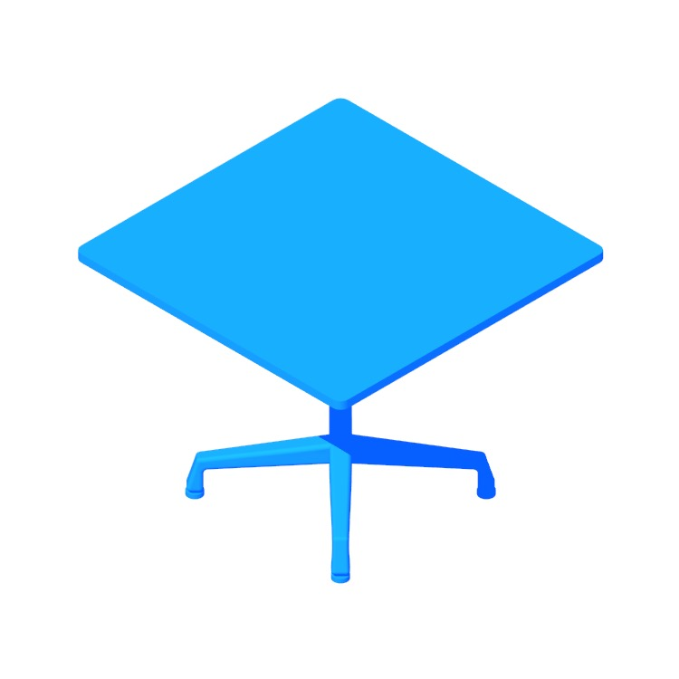 View of the Eames Universal Table (Square) in 3D available for download