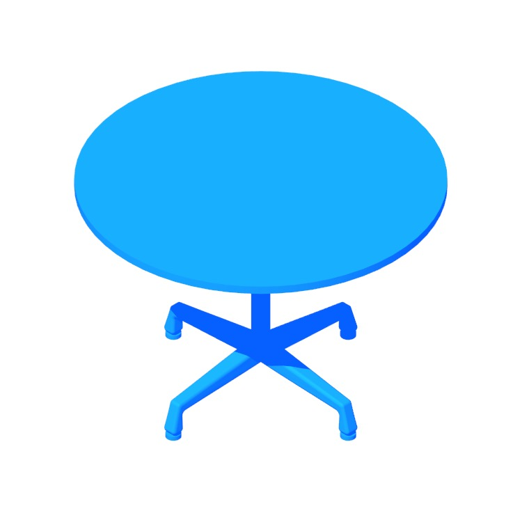 3D model of the Eames Universal Table (Round) viewed in perspective