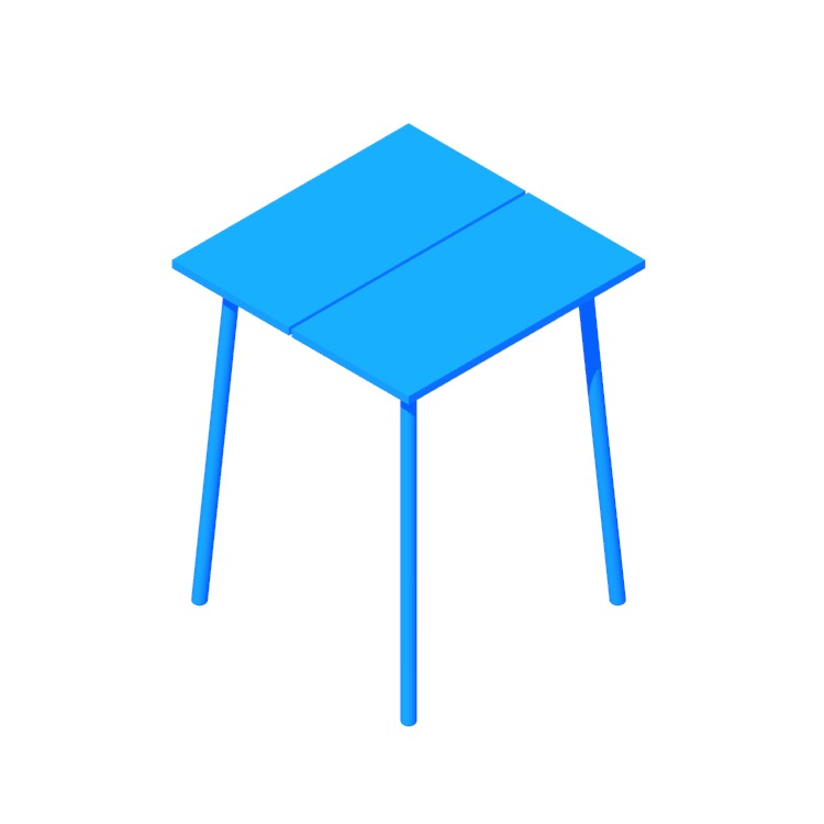 3D model of the Run High Table (Square) viewed in perspective