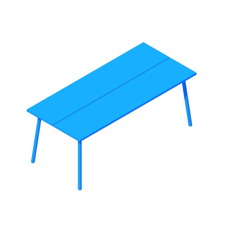 View of the Run Table - Rectangular in 3D available for download