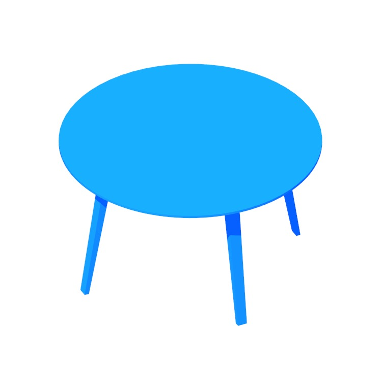 3D model of the GUBI Organic Table (Round) viewed in perspective