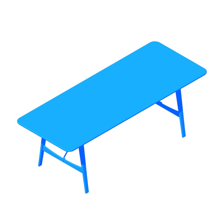 View of the BM1160 Hunting Table in 3D available for download