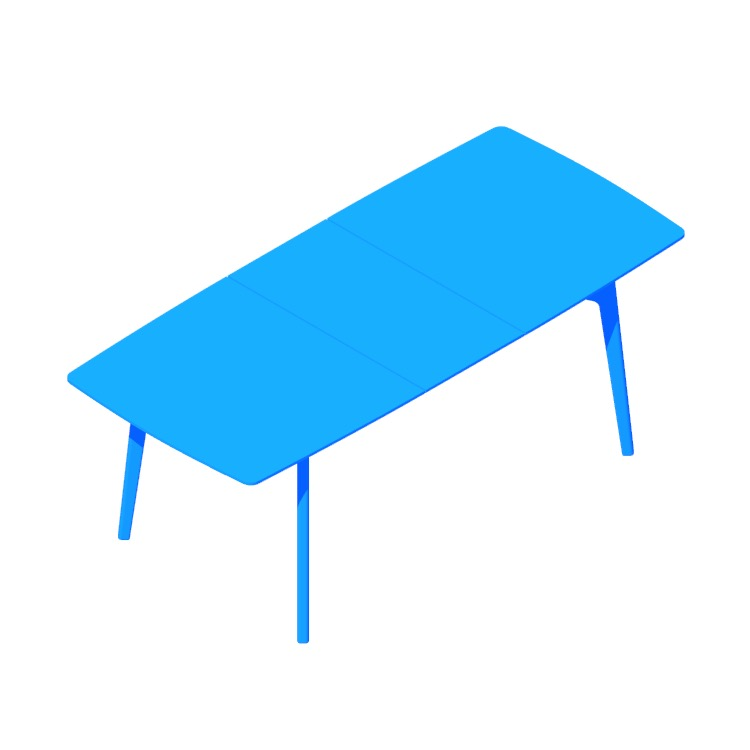 3D model of the Dulwich Extension Table (Rectangular) viewed in perspective