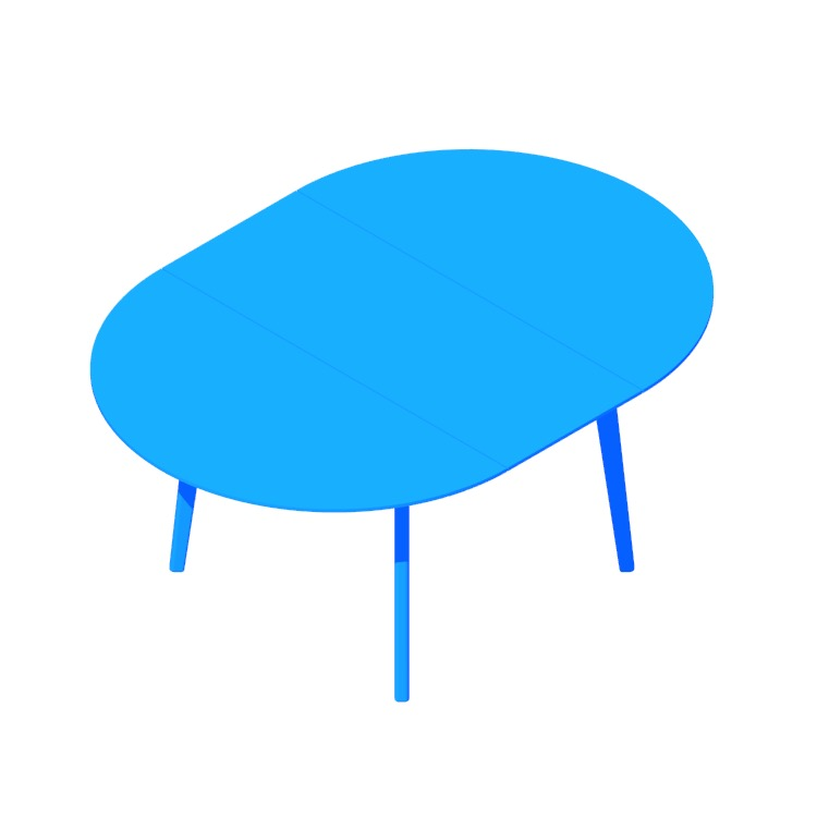 View of the Dulwich Extension Table (Round) in 3D available for download