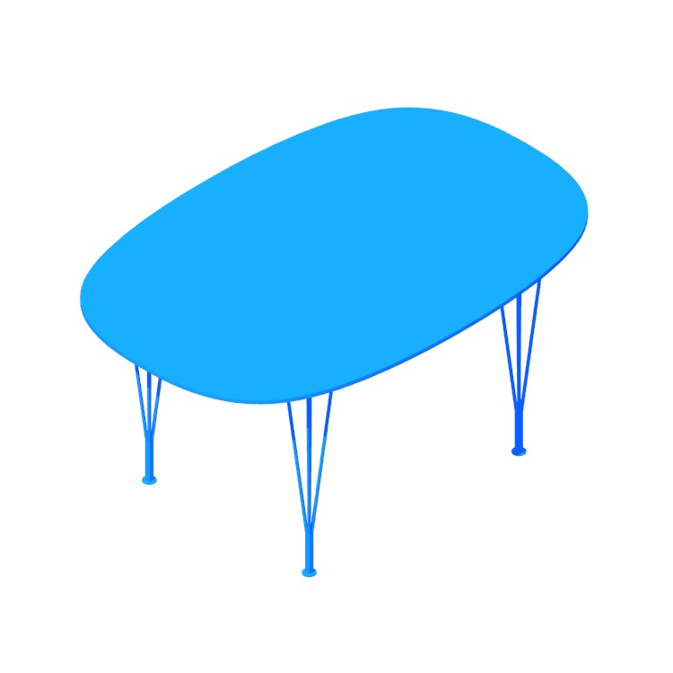 Perspective view of a 3D model of the Super Elliptical Table