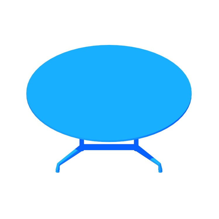 View of the Eames Segmented Table (Round) in 3D available for download