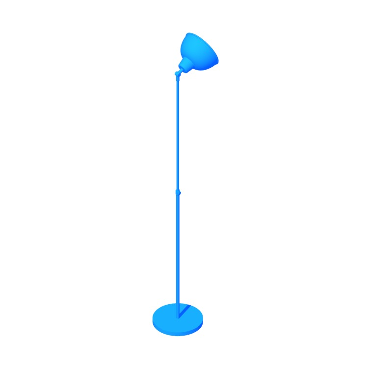 View of the IKEA Skurup Floor Lamp in 3D available for download