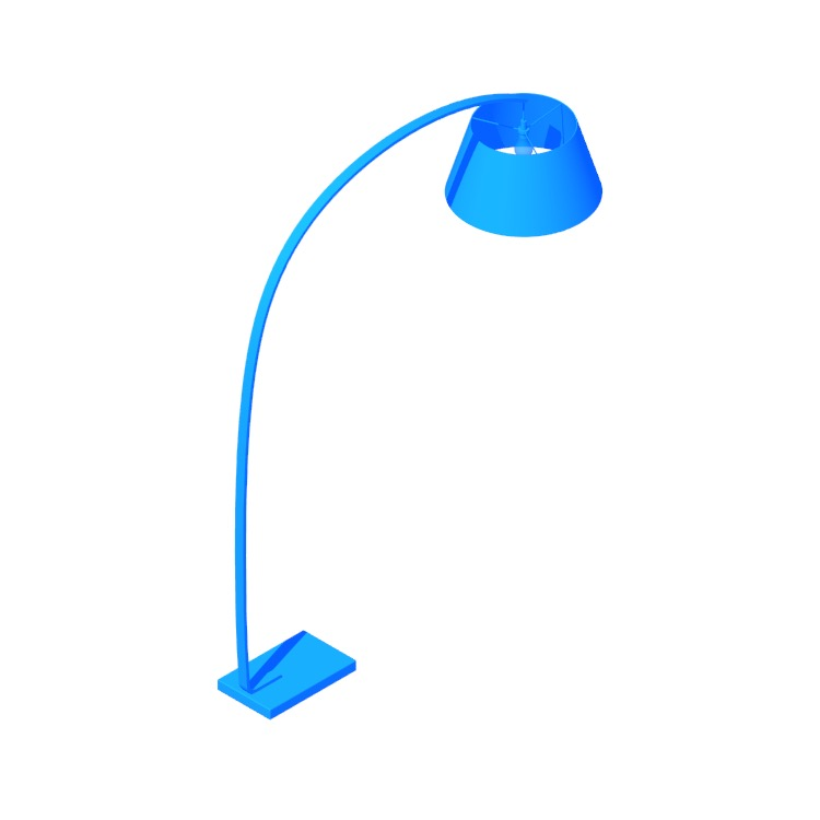 3D model of the Willo Floor Lamp viewed in perspective