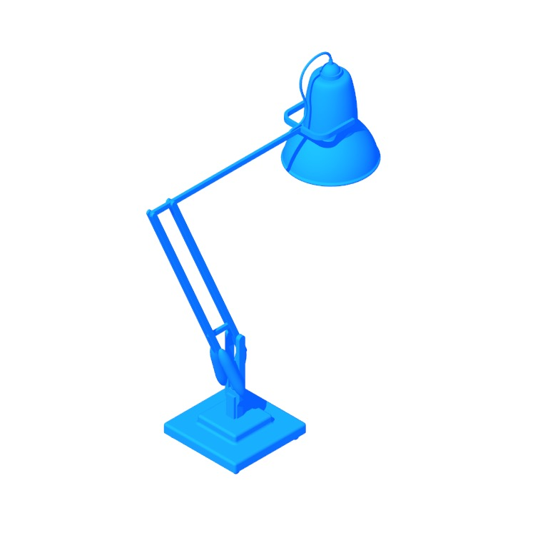 3D model of the Original 1227 Giant Floor Lamp viewed in perspective