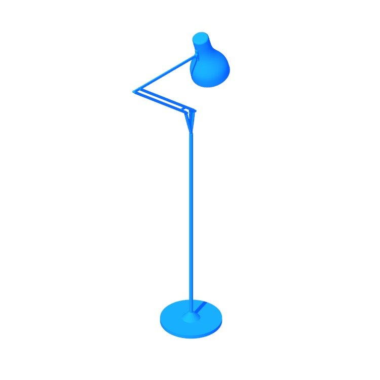 3D model of the Type 75 Floor Lamp viewed in perspective