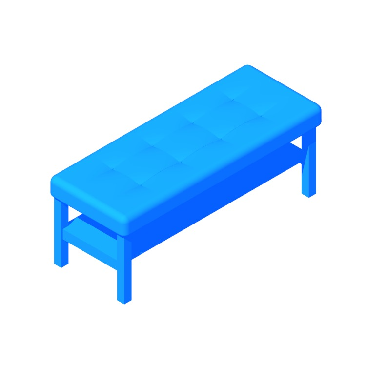 View of the IKEA Dalholen Bench in 3D available for download