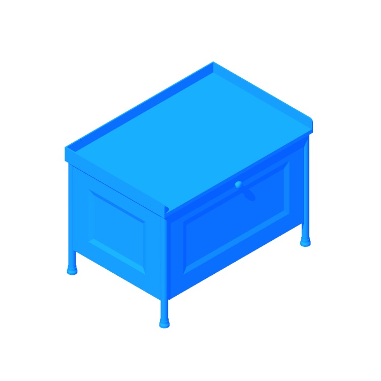 View of the IKEA Kornsjö Storage Bench in 3D available for download