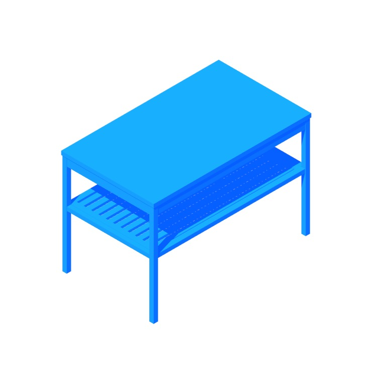 3D model of the IKEA Nordkisa Bench viewed in perspective