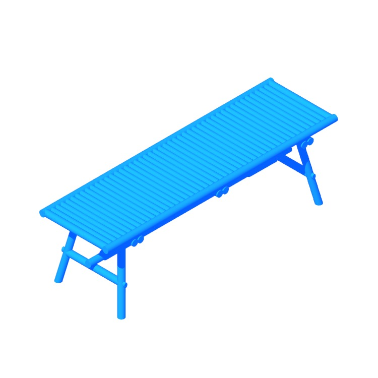 View of the IKEA Tänkvärd Bench in 3D available for download