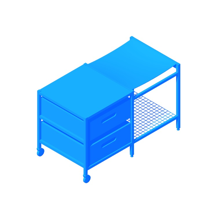 3D model of the IKEA Veberöd Bench viewed in perspective