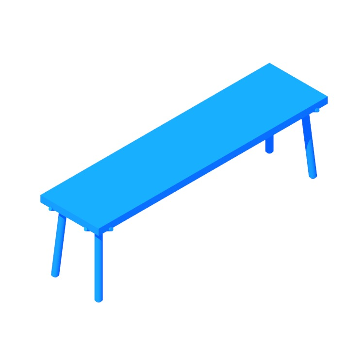 View of the Branch Bench in 3D available for download