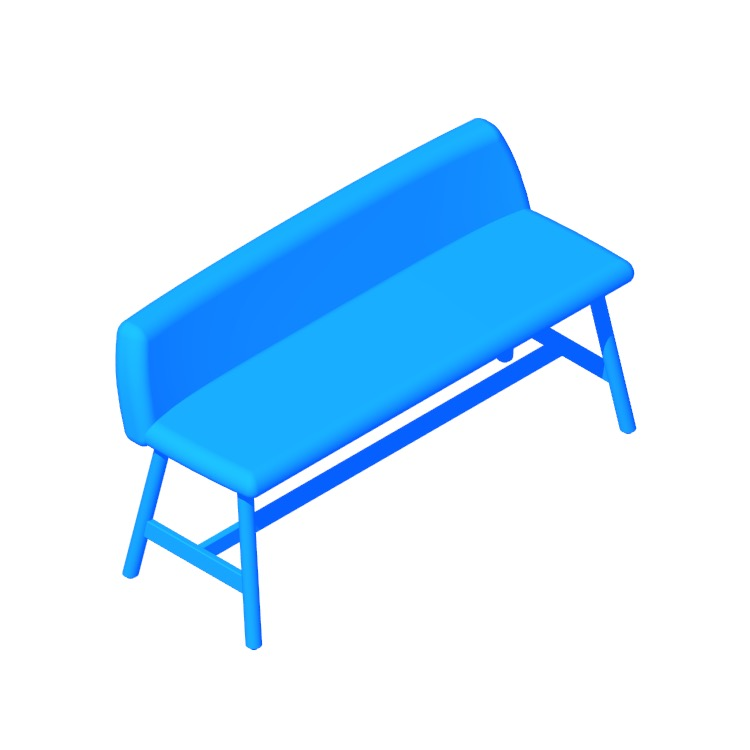 3D model of the Chip Bench viewed in perspective