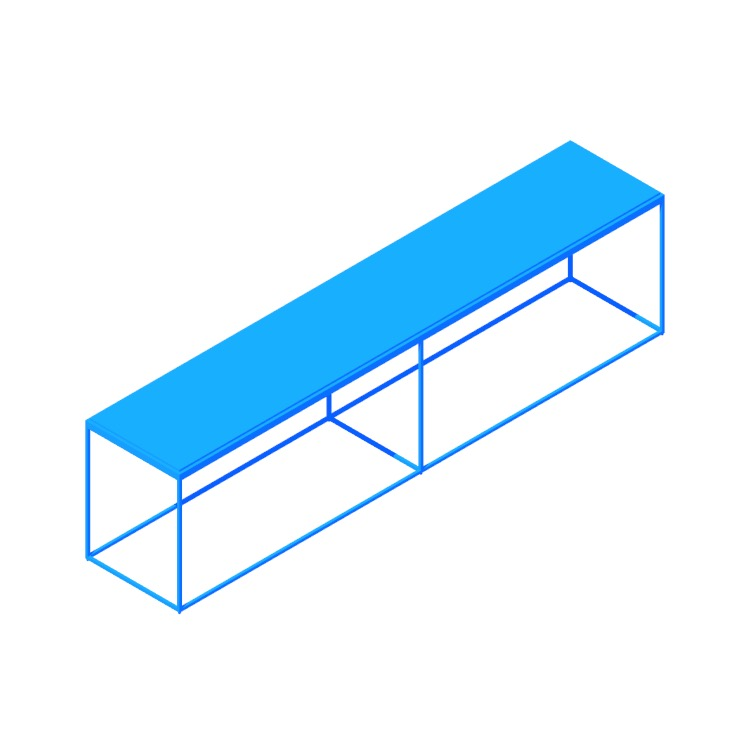 3D model of the Construct Bench (Large) viewed in perspective