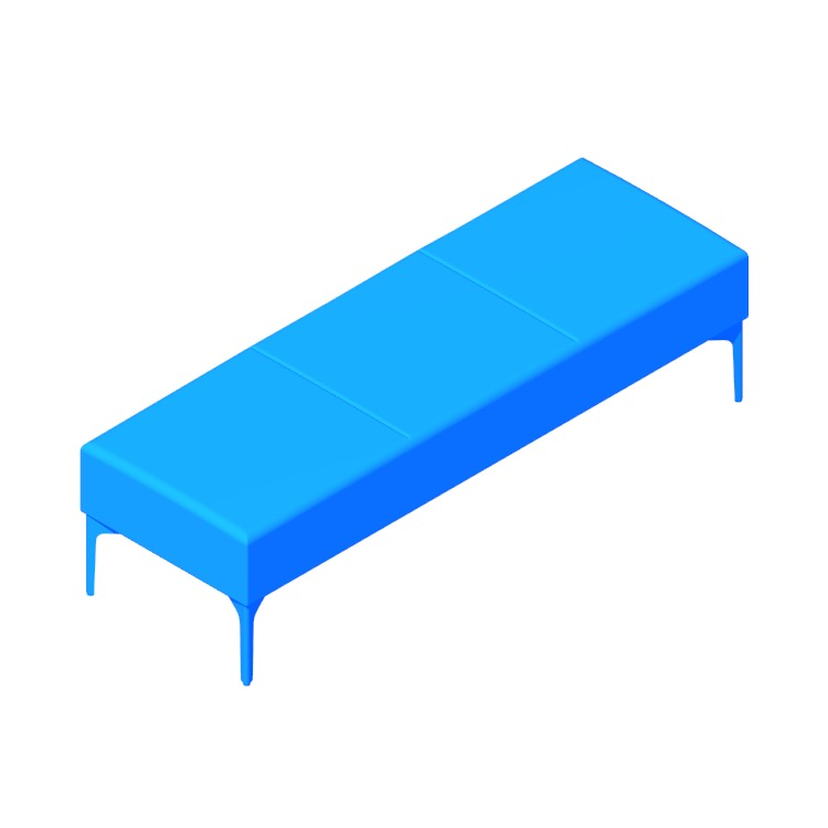 View of the Symbol Bench (3-Seat) in 3D available for download