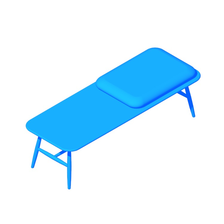 View of the Von Bench in 3D available for download
