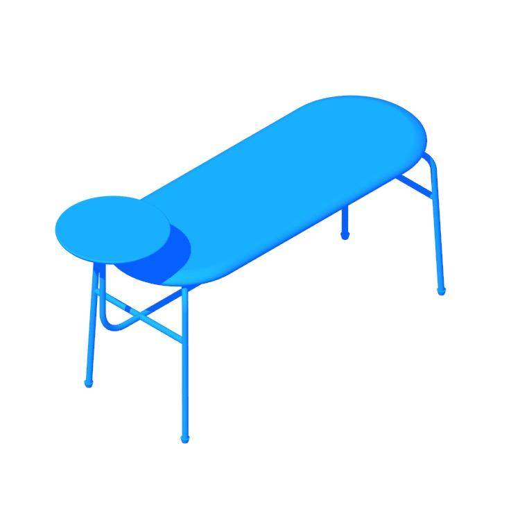 3D model of the Afteroom Bench viewed in perspective