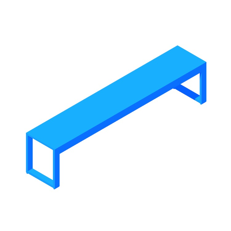 View of the Perspective Bench in 3D available for download