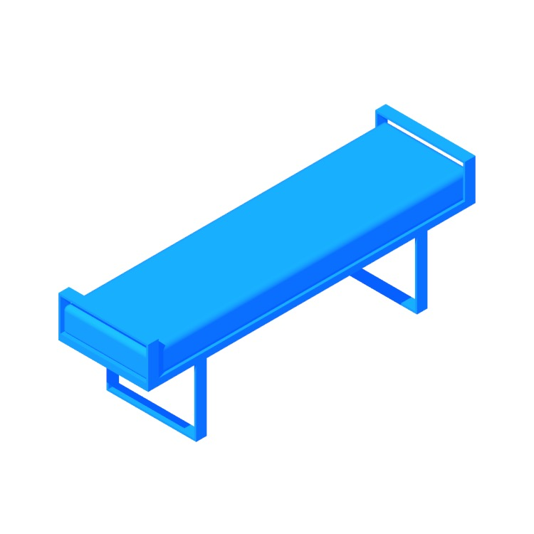 Perspective view of a 3D model of the Profile Bench