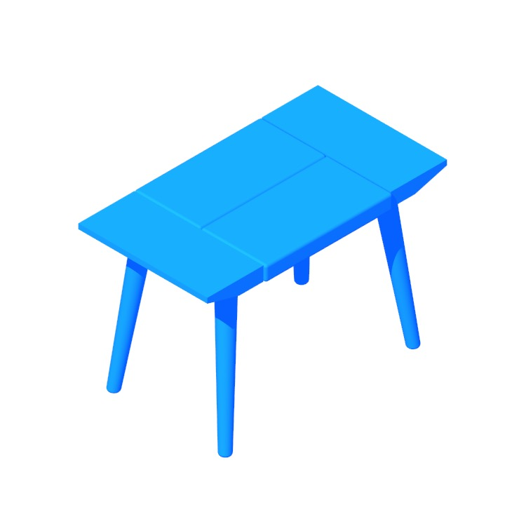 3D model of the Bora Bora Bench (Short) viewed in perspective