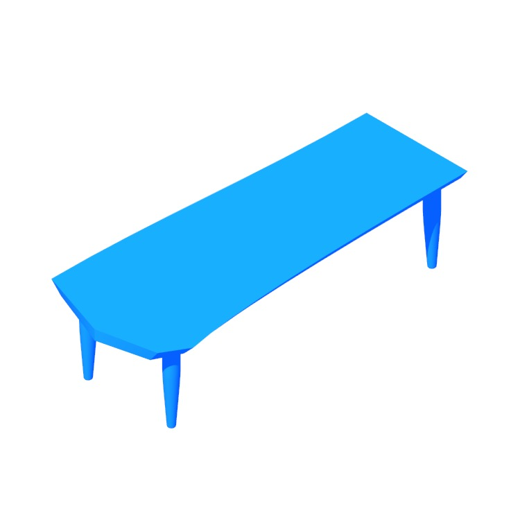 Perspective view of a 3D model of the Fuji Bench