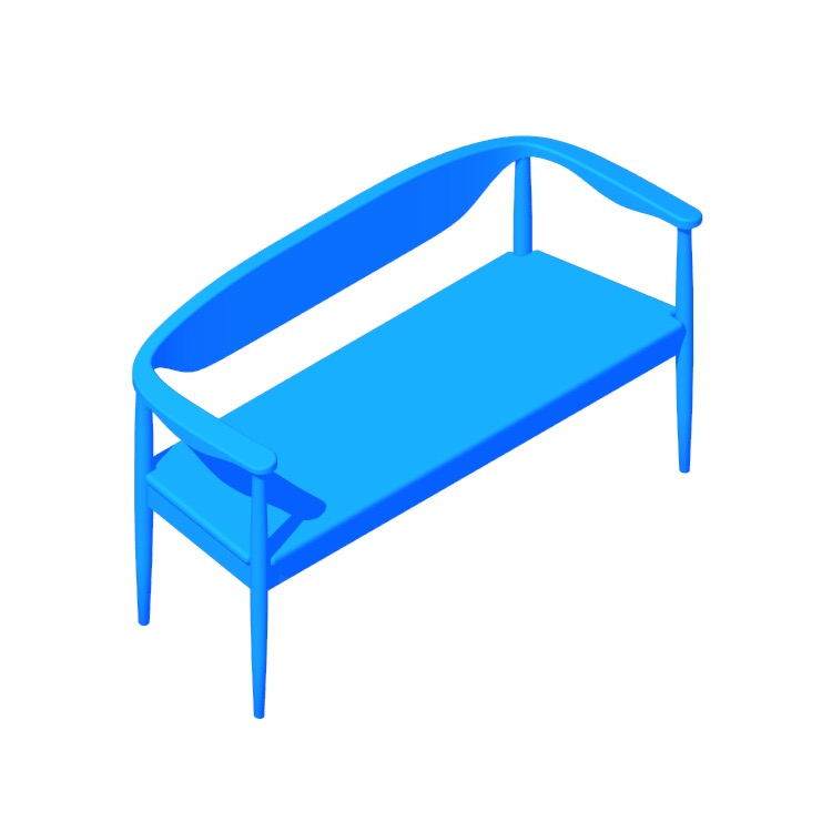 View of the Larson Bench in 3D available for download
