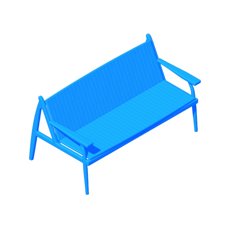 Perspective view of a 3D model of the Osaka Bench