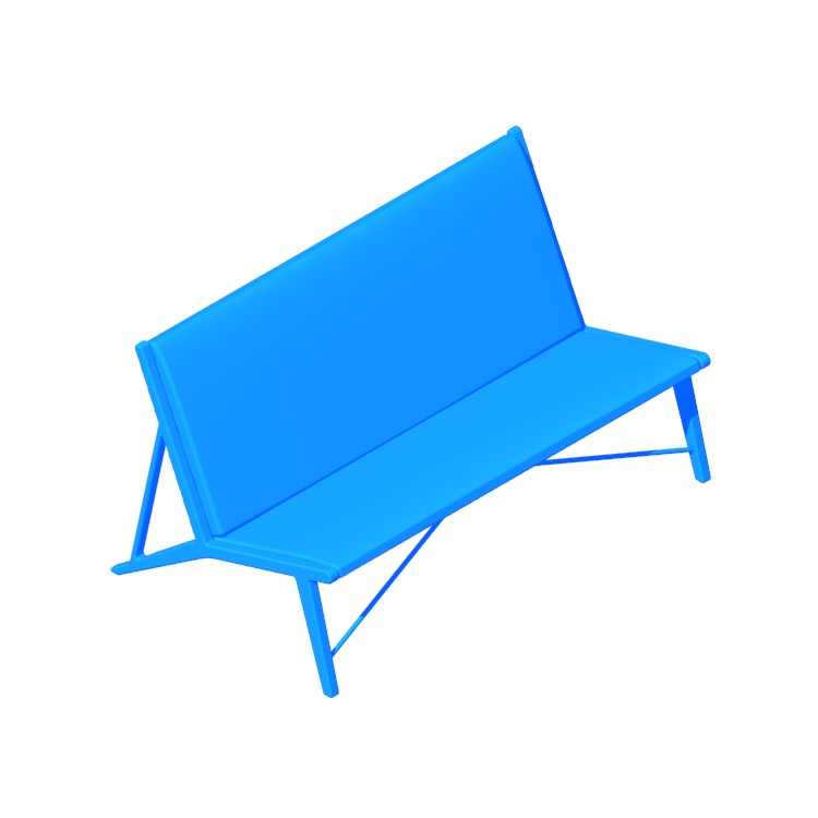 View of the Oslo Sofa Bench in 3D available for download