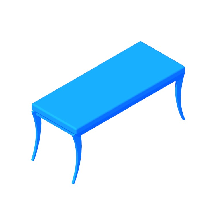 3D model of the Paris Contemporary Bench viewed in perspective