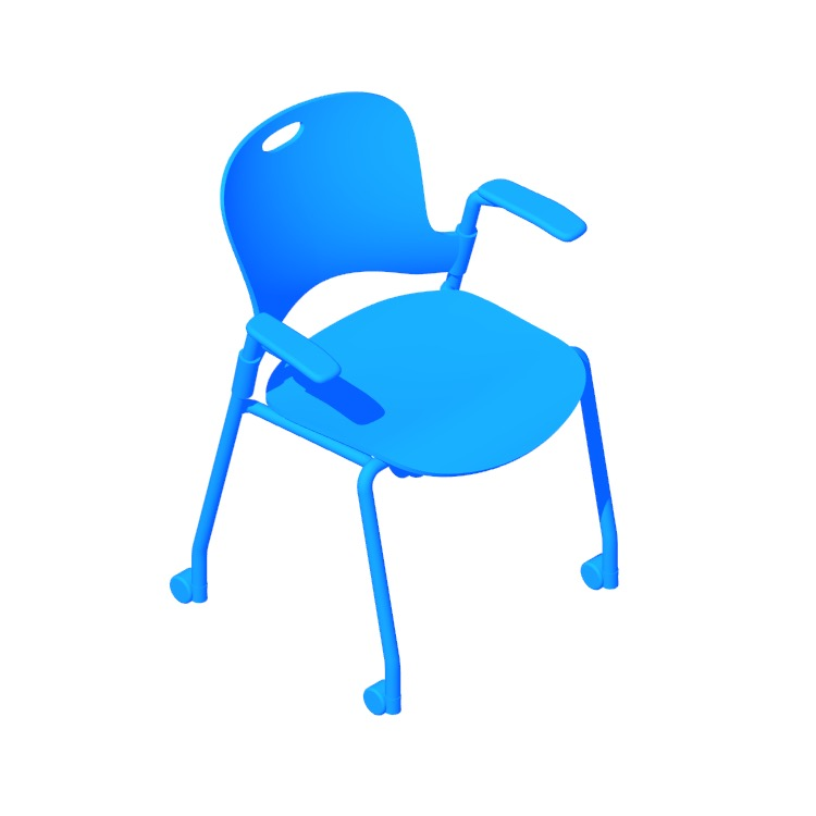 View of the Caper Stacking Chair in 3D available for download