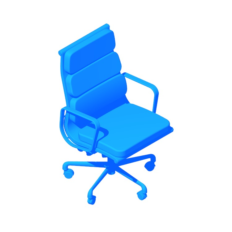 View of the Eames Soft Pad Executive Chair in 3D available for download