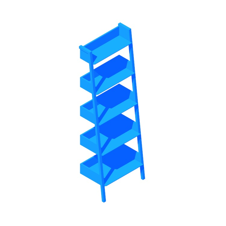 3D model of the Fantol Bookcase (Narrow) viewed in perspective