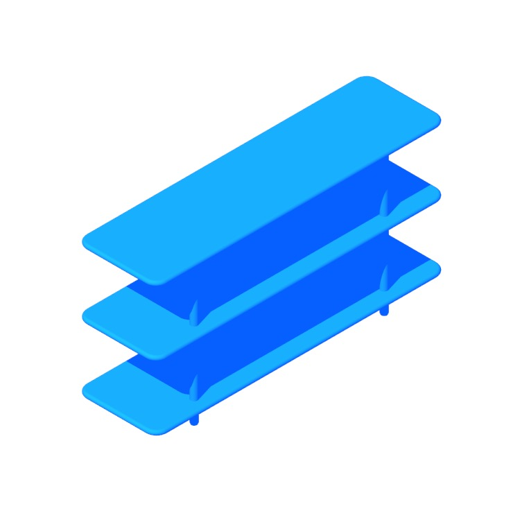 3D model of the Aero Shelving (Low) viewed in perspective