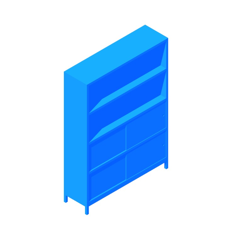 View of the Sapporo Shelving (4 High) in 3D available for download