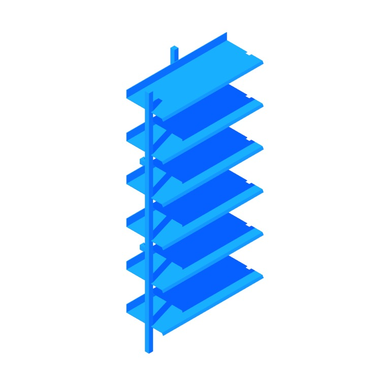 View of the Browser Bookcase (Tall Add-on) in 3D available for download