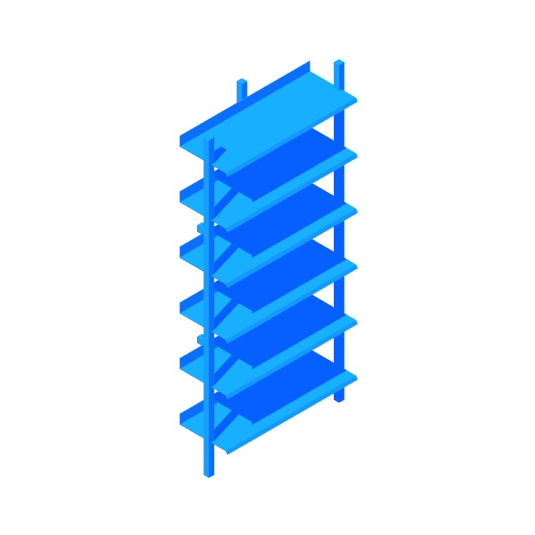 3D model of the Browser Bookcase (Tall) viewed in perspective