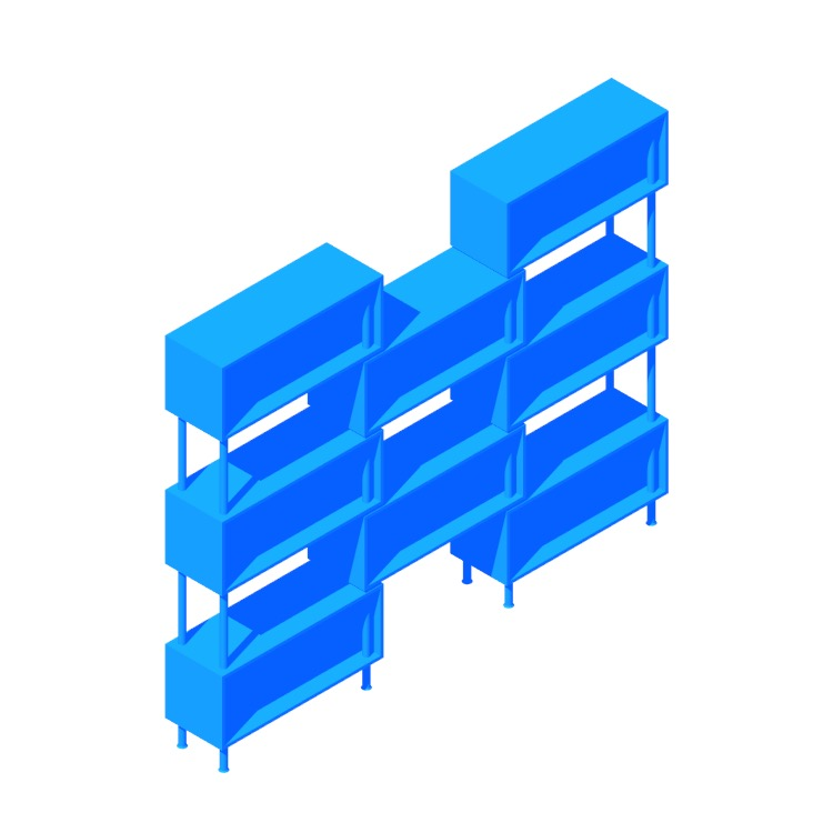3D model of the Chicago 8 Box viewed in perspective