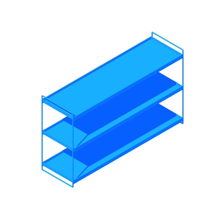 View of the Kartell Trays Bookcase in 3D available for download