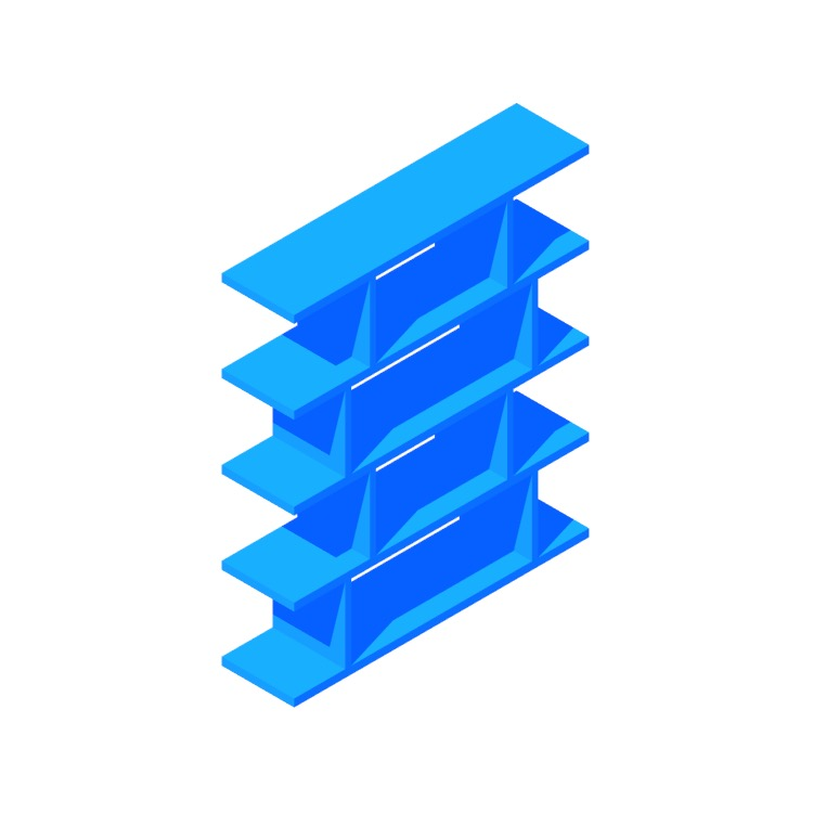 View of the 3.14 Bookcase in 3D available for download
