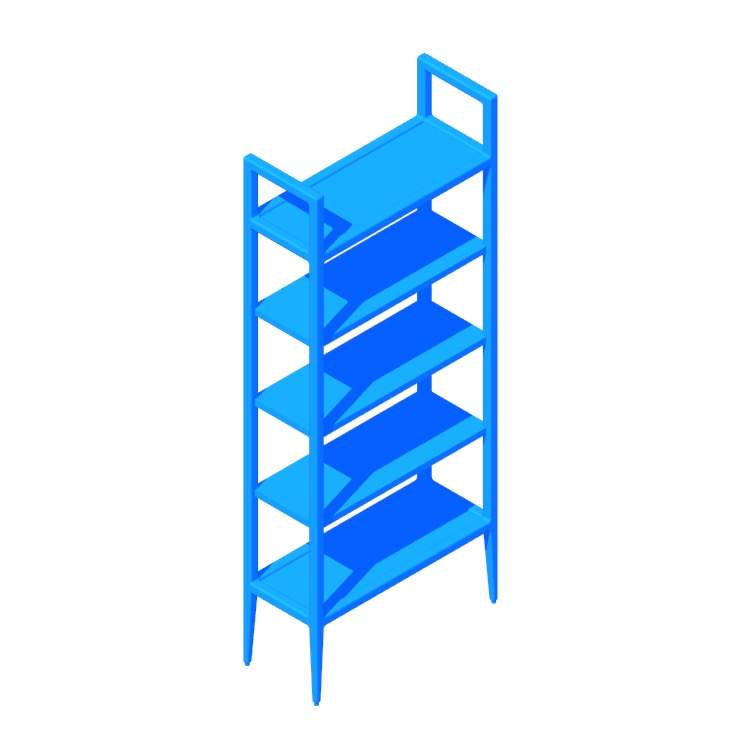 View of the Kent Bookcase in 3D available for download