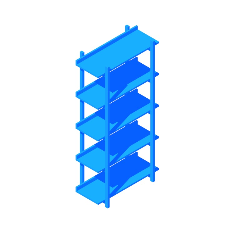 3D model of the Stax Bookcase viewed in perspective