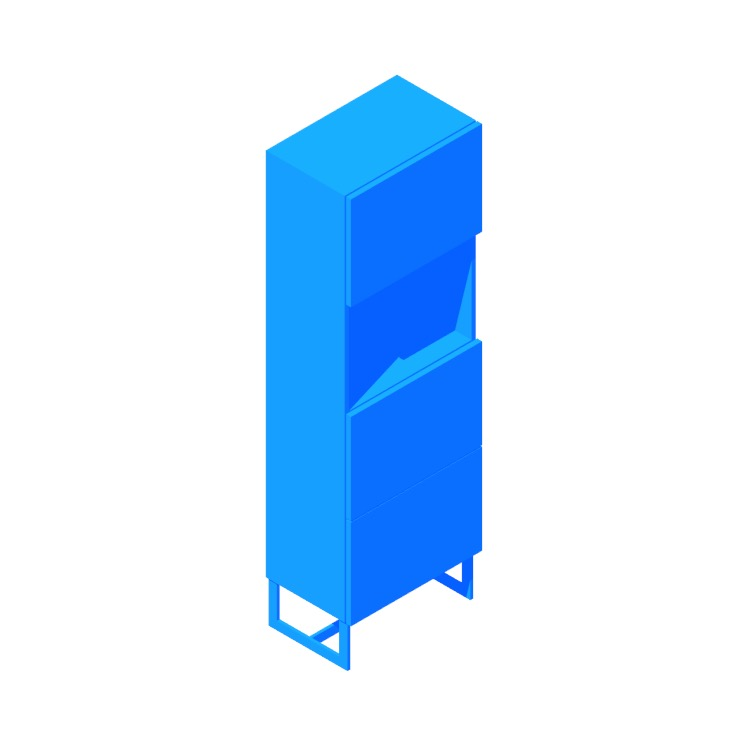 View of the Suspend Tall Bar Cabinet in 3D available for download