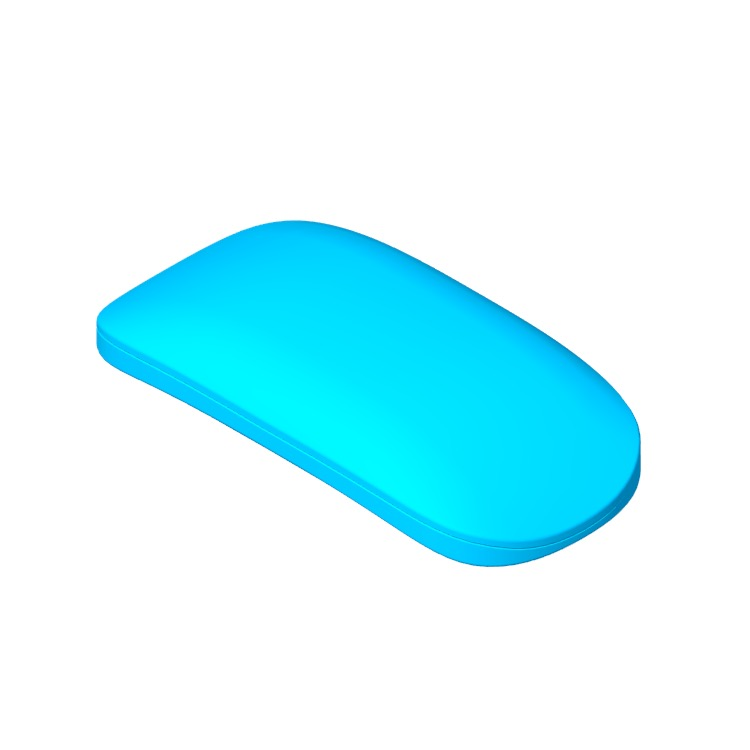 3D model of the Apple Magic Mouse 2 viewed in perspective