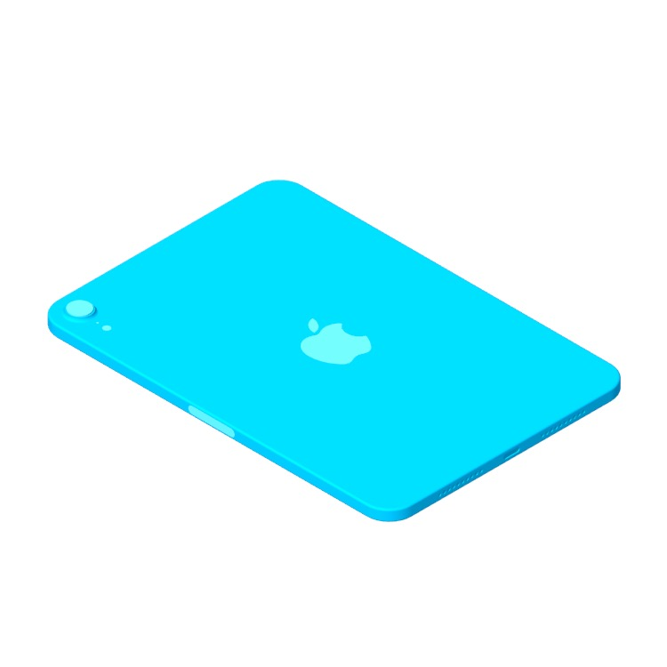 View of the Apple iPad Mini (6th Generation) in 3D available for download